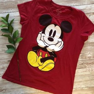 Disney red Mickey tee red XL